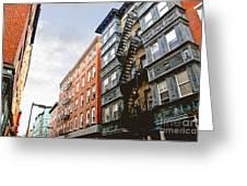 Boston Street Greeting Card by Elena Elisseeva