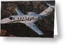 Bottle Cap Cessna Citation Mosaic Greeting Card by Paul Van Scott