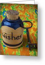 Bottle Of Wishes Greeting Card by Garry Gay