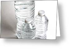 Bottled Water Greeting Card by Photo Researchers