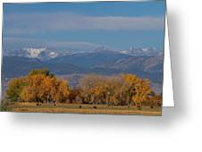 Boulder County Colorado Continental Divide Autumn View Greeting Card by James BO  Insogna