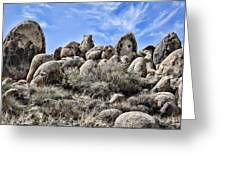 Boulder Populated Greeting Card by Kelley King
