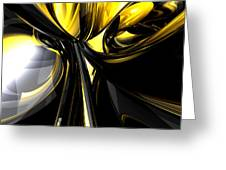 Bounded By Light Abstract Greeting Card by Alexander Butler