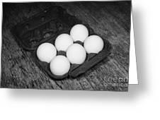 Box Of Half Dozen White Organic Fresh Eggs Greeting Card by Joe Fox