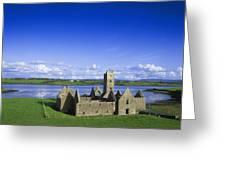 Boyle Abbey, Ballina, Co Mayo Greeting Card by The Irish Image Collection