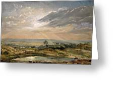 Branch Hill Pond Hampstead Greeting Card by John Constable
