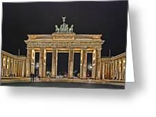 Brandenburg Gate Greeting Card by Joachim G Pinkawa