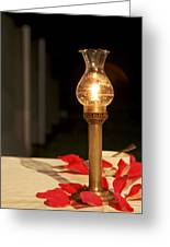 Brass Candle Romance Greeting Card by Kantilal Patel