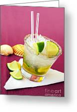 Brazilian Cocktail Greeting Card by Carlos Caetano