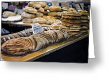 Bread Market Greeting Card by Heather Applegate