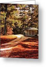 Brewer Cabin Greeting Card by Jai Johnson