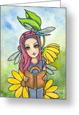 Brianna's Dragonflies Greeting Card by Nora Blansett