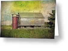 Brick Silo Greeting Card by Kathy Jennings