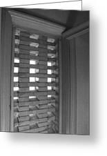 Bricks In The Window Greeting Card by Anna Villarreal Garbis