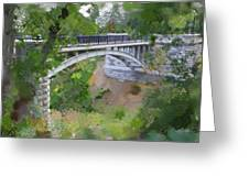 Bridge at Lake Park Greeting Card by Geoff Strehlow