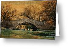 Bridge From The Past Greeting Card by Nishanth Gopinathan