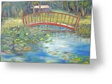 Bridge In Vero Beach Greeting Card by Barbara Anna Knauf