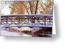 Bridge Over Icy Waters Greeting Card by James BO  Insogna