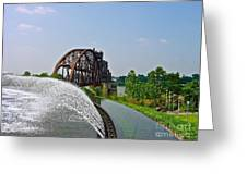 Bridge To The Past Greeting Card by Joe Finney