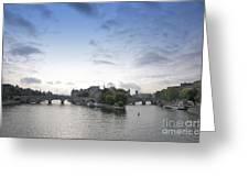 Bridges On River Seine. Paris. France Greeting Card by Bernard Jaubert