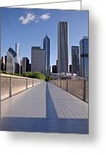 Bridgeway To Chicago Greeting Card by Steve Gadomski