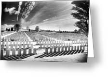 British Cemetery Greeting Card by Simon Marsden