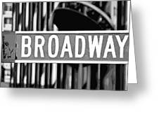 Broadway Sign Color Bw10 Greeting Card by Scott Kelley
