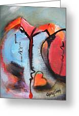 Broken And Blue Heart Greeting Card by Gary Smith