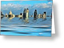 Broken Flood Barrier Greeting Card by Sharon Lisa Clarke