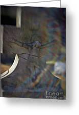 Broken Head Cross Greeting Card by Susan Isakson