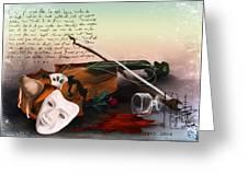 Broken Symphony Greeting Card by Arin Rajawali