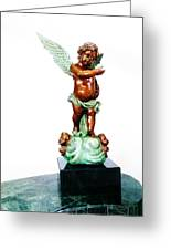 Bronze Angel Greeting Card by Unique Consignment