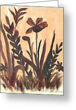 Brown Ferns Greeting Card by Debbie Wassmann