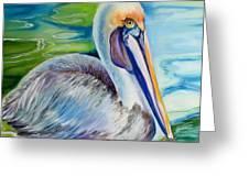 Brown Pelican Of Louisiana Greeting Card by Marcia Baldwin