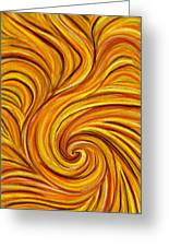 Brown Swirl Greeting Card by Hakon Soreide