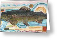 Brown Trout 1 Greeting Card by Michelle Grove