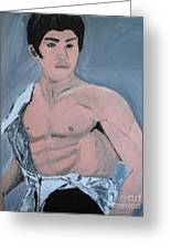 Bruce Lee Greeting Card by Jeannie Atwater Jordan Allen