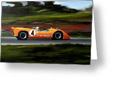 Bruce Mclaren Greeting Card by Steve Jones