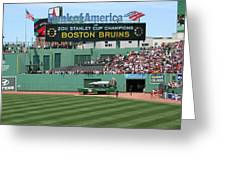 Bruins At Fenway Greeting Card by Stephen Melcher