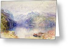 Brunnen Greeting Card by Joseph Mallord William Turner