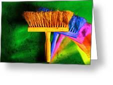 Brush Greeting Card by Mauro Celotti