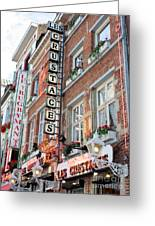 Brussels - Place Sainte Catherine Restaurants Greeting Card by Carol Groenen