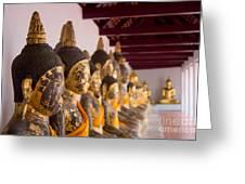 Buddha Culptures Greeting Card by Asaha Ruangpanupan