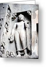 Buddha Statue At Ajanta Caves India Greeting Card by Sumit Mehndiratta