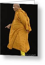 Buddhist Monk 3 Greeting Card by Bob Christopher