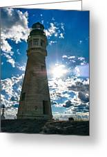 Buffalo Lighthouse 15717c Greeting Card by Guy Whiteley
