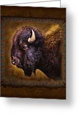 Buffalo Lodge Greeting Card by JQ Licensing