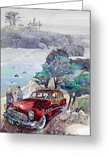 Buick At Battery Point Greeting Card by Mike Hill