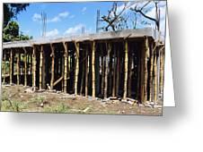 Building Construction Greeting Card by David Nunuk