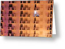 Building Facade Greeting Card by Carlos Caetano